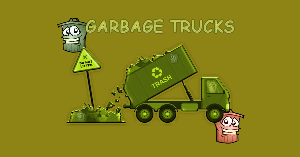 Garbage Trucks - Hidden Trash Can - Play Online Games Free