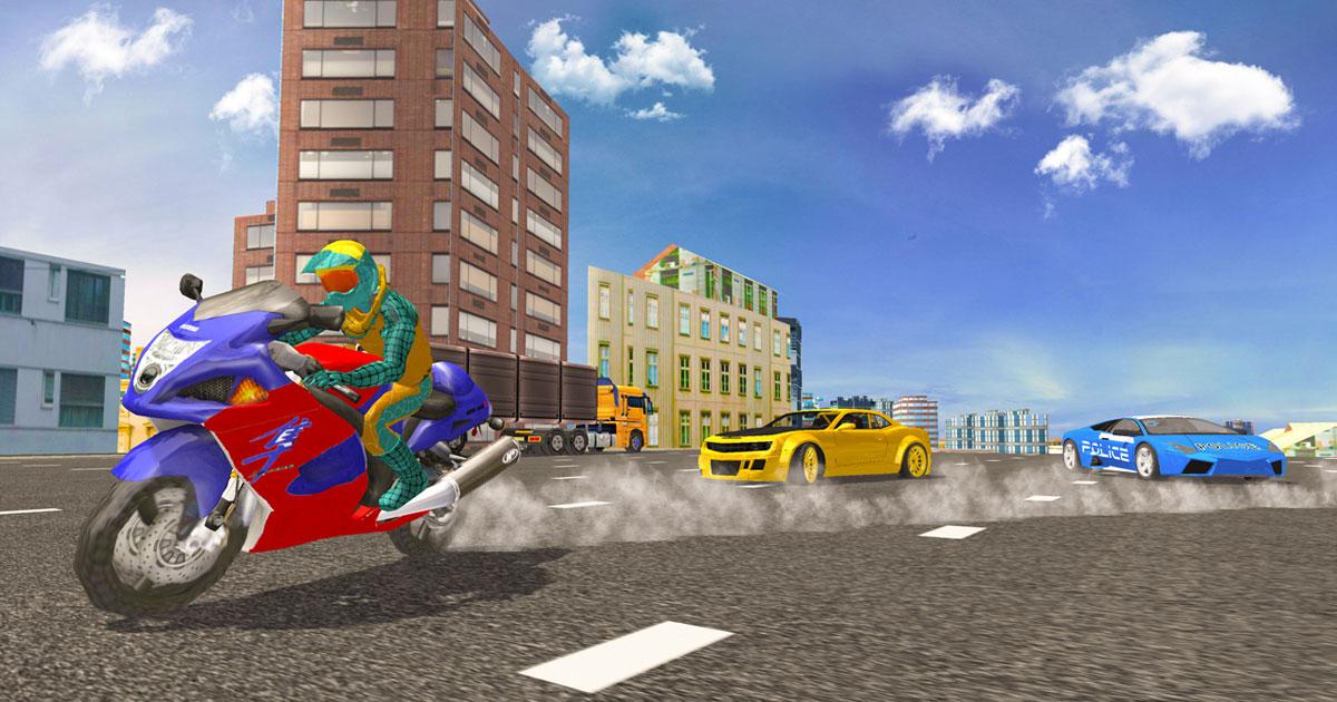 Hero Stunt Spider Bike Simulator